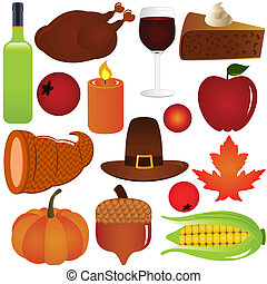 Thanksgiving, Fall season Vector - Thanksgiving / Fall...