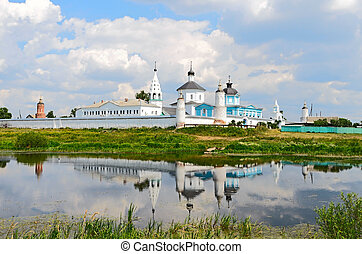 Bobrenev monastery founded in the XIV century, Russia -...