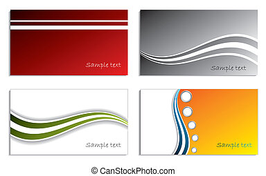 Cool new business card set 8