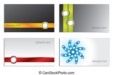 Abstract business cards