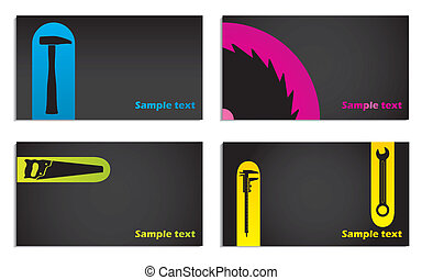 Tool business card set of four