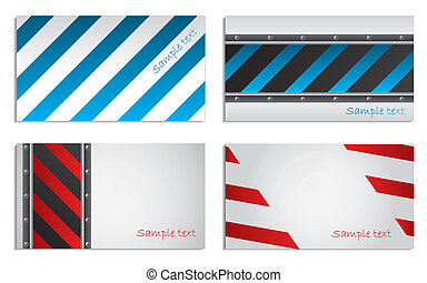 Striped business card set