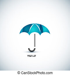 Protection umbrella icon concept