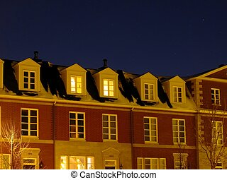 A row of town homes