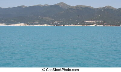 Summer panoramic view of the sea an