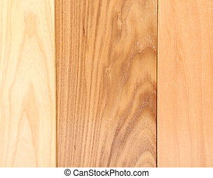 Background of three boards linden, elm, acacia - Background...