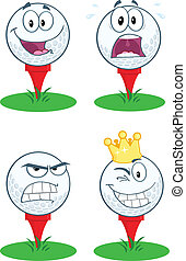Golf Ball With Tee .Collection