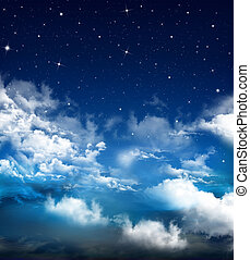 abstract Nightly sky - abstract blue background, Nightly sky...