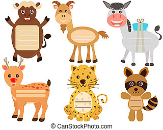 Animal Icons / Tag / Label - A Vector Set of Cute Animal...