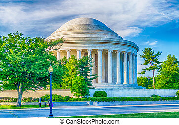 Jefferson Memorial in Washington DC - The Jefferson Memorial...