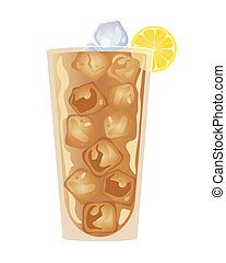 iced tea - an illustration of a cool glass of iced tea...