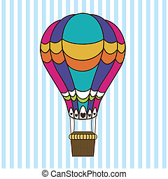 balloon design over lineal background vector illustration