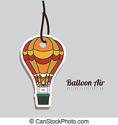 balloon design over gray background vector illustration