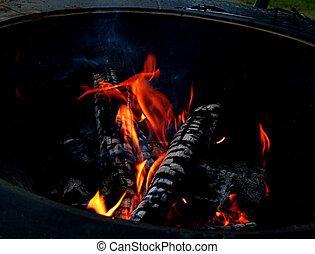 fogo, fogo, queimadura, luminoso