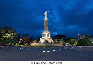 Ruse, Bulgaria - the Monument of Liberty was built around...