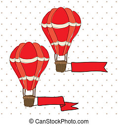 balloon design over dotted background vector illustration