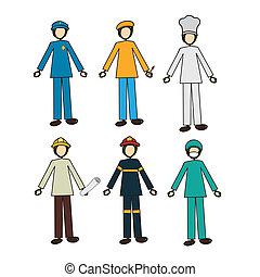 jobs design over white background vector illustration |