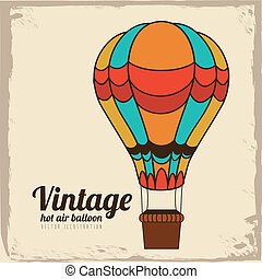 balloon design over vintage background vector illustration