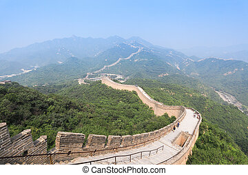 badaling great wall - famous great wall at badaling in...