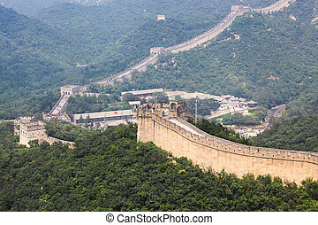 badaling great wall,crossroad town in beijing,China