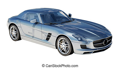 Supercar isolated on a light background - Sport supercar...