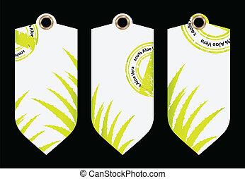 special price tag with aloe vera de