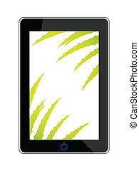 smart phone - realistic vector illustration with aloe vera design