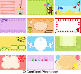 Vector Label, Name card, in pastel - A Cute Collection of...