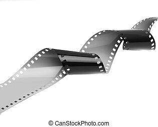 Film Strip - 35mm film strip isolated on white background