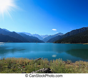 heavenly lake under the sun,sinkiang,China