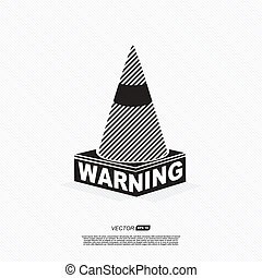 warning symbol - vector illustration on white background