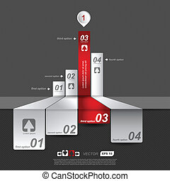 Absract four banners with arrow - Infographics options...