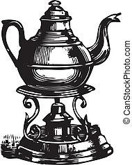 Vintage teapot-vector