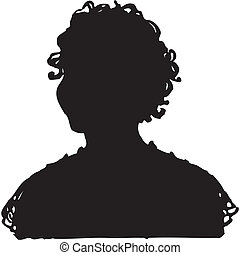vector of woman silhouette