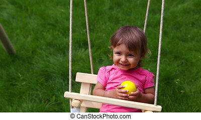 Carefree child - The above view of a carefree child enjoying...