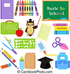 Back to School icons - A vector collection of Back to School...