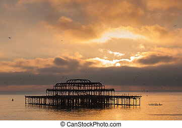 The West Pier at sunset