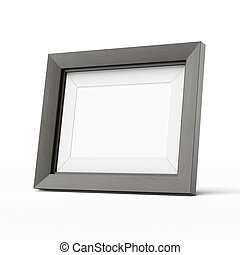wooden picture frame  isolated on a white background