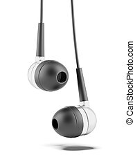 Ear buds headphone isolated on a white background