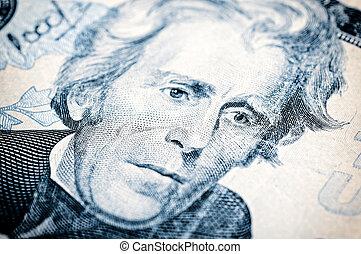 Andrew Jackson - Portrait of Andrew Jackson on the twenty...