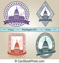Vintage stamp Washington DC - Vintage stamp from Washington...