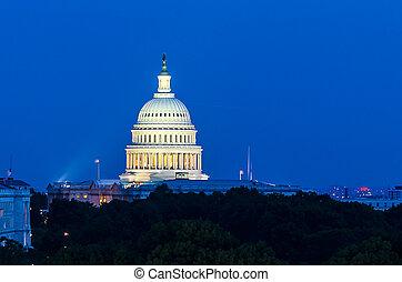 United States Capitol building at dusk, Washington DC