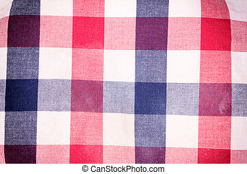 Table cloth - Red, blue and white table cloth texture