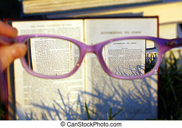 Reading Bible Through Glasses