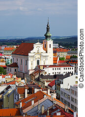 Church in Kromeriz, Czech Republic - Church in Kromeriz -...
