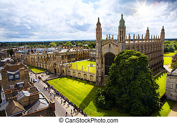 Art Cambridge University and Kings College Chapel -...