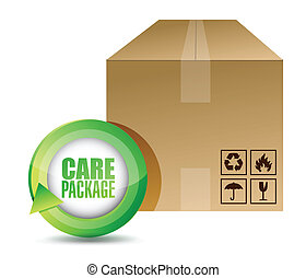care package illustration design over a white background