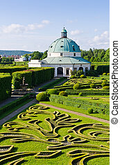 Flower gardens in Kromeriz, Czech Republic - Flower gardens...