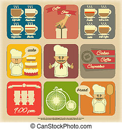 Cover Menu for Cafe - Retro Cover Menu for Cafe in Vintage...