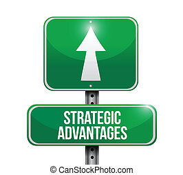 strategic advantages road sign illustration